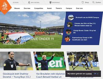 Main page screenshot of knvb.nl