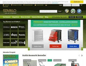 Main page screenshot of stabilo-shop.de