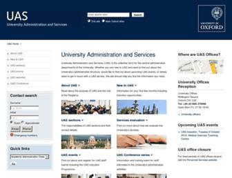admin.ox.ac.uk screenshot