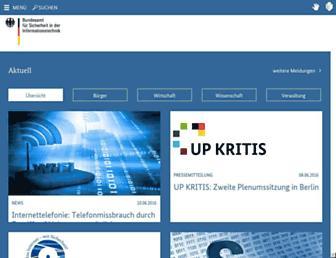 bsi.bund.de screenshot