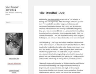 Main page screenshot of blog.arlecchino.org
