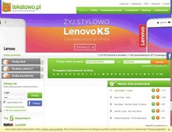 Thumbshot of Tekstowo.pl
