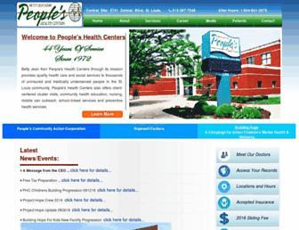 phcenters.org screenshot