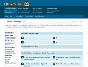 quizwise.com screenshot