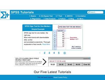 spss-tutorials.com screenshot