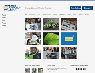 Thumbshot of Makingchangeatwalmart.org
