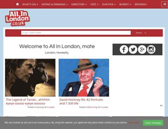 allinlondon.co.uk screenshot