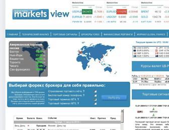 Main page screenshot of marketsview.ru