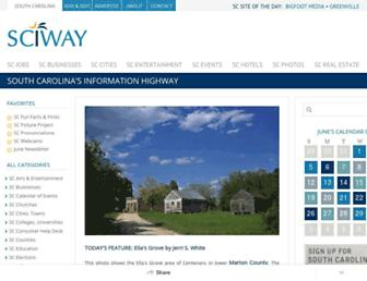 Main page screenshot of sciway.net