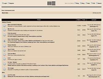 forum.ableton.com screenshot
