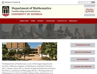 alpha.math.uga.edu screenshot