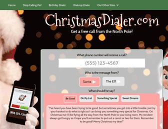 christmasdialer.com screenshot