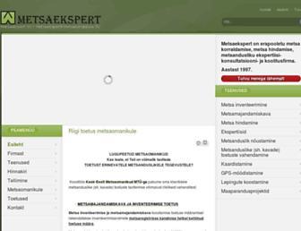Main page screenshot of metsaekspert.ee