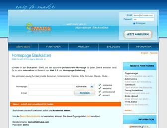 Main page screenshot of e2make.de