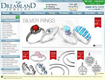dreamlandjewelry.com screenshot