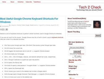 Main page screenshot of tech2check.org