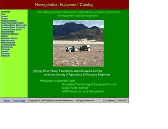 Main page screenshot of reveg-catalog.tamu.edu