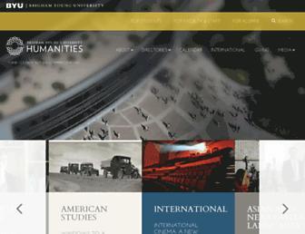 Main page screenshot of humanities.byu.edu