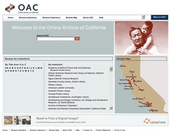 oac.cdlib.org screenshot