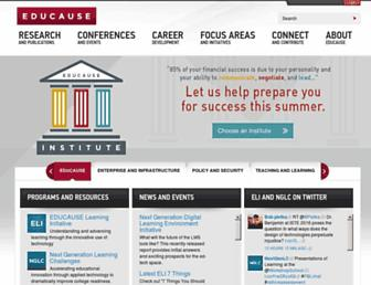 Main page screenshot of educause.edu