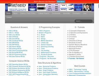 sanfoundry.com screenshot