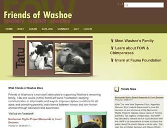 Main page screenshot of friendsofwashoe.org
