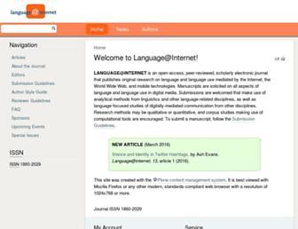 languageatinternet.org screenshot
