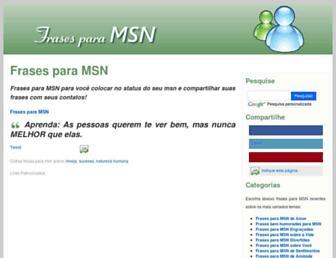 Thumbshot of Frasesparamsn.com.br