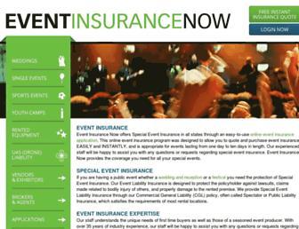 eventinsurancenow.com screenshot