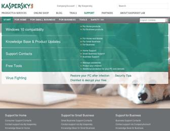support.kaspersky.com screenshot