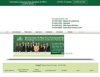wiscboneandjoint.com screenshot