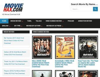 moviehax.com screenshot