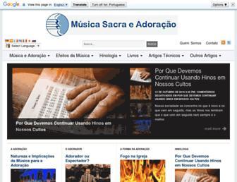musicaeadoracao.com.br screenshot