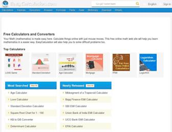 easycalculation.com screenshot