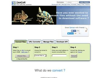 zamzar.com screenshot