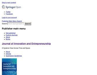 innovation-entrepreneurship.springeropen.com screenshot