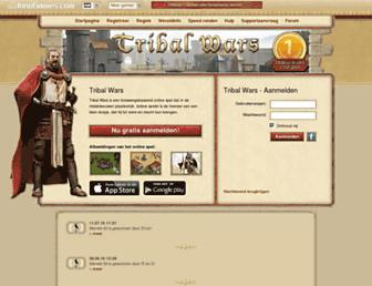 Main page screenshot of tribalwars.nl