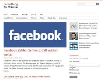 Main page screenshot of bernetblog.ch