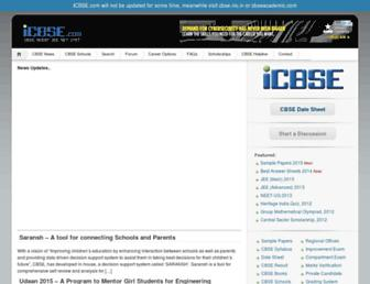 icbse.com screenshot