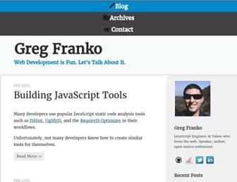 Thumbshot of Gregfranko.com