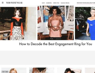 Thumbshot of Whowhatwear.com