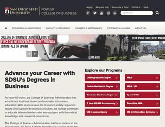 business.sdsu.edu screenshot