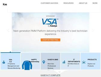 Main page screenshot of kaseya.nl