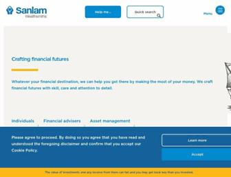 sanlam.co.uk screenshot