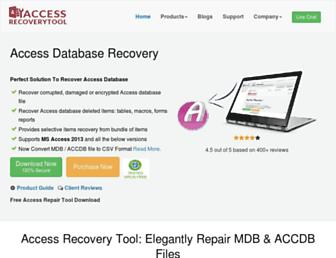 accessrecoverytool.com screenshot