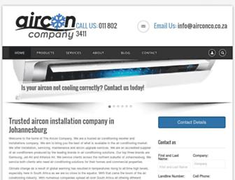airconco.co.za screenshot
