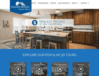 nilsonhomes.com screenshot