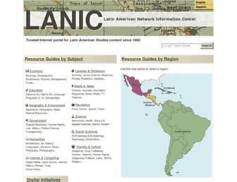Main page screenshot of lanic.utexas.edu