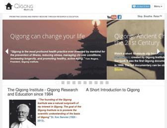 Main page screenshot of qigonginstitute.org