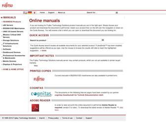 manuals.ts.fujitsu.com screenshot